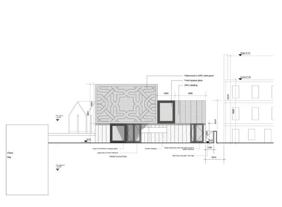 Floor Plan With Elevation Modern : Aberdeen mosque building e architect
