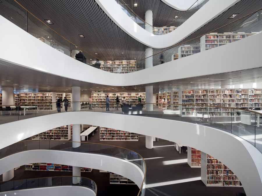Aberdeen university library building e architect for Modern library building design