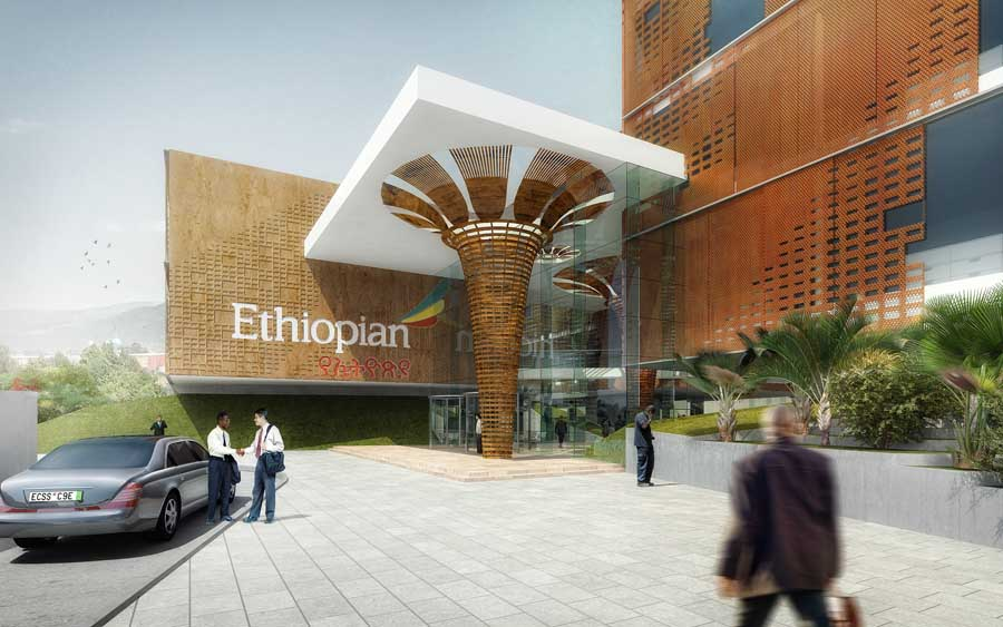 Ethiopian airlines headquarters bole hq e architect for Ethiopian decorating style