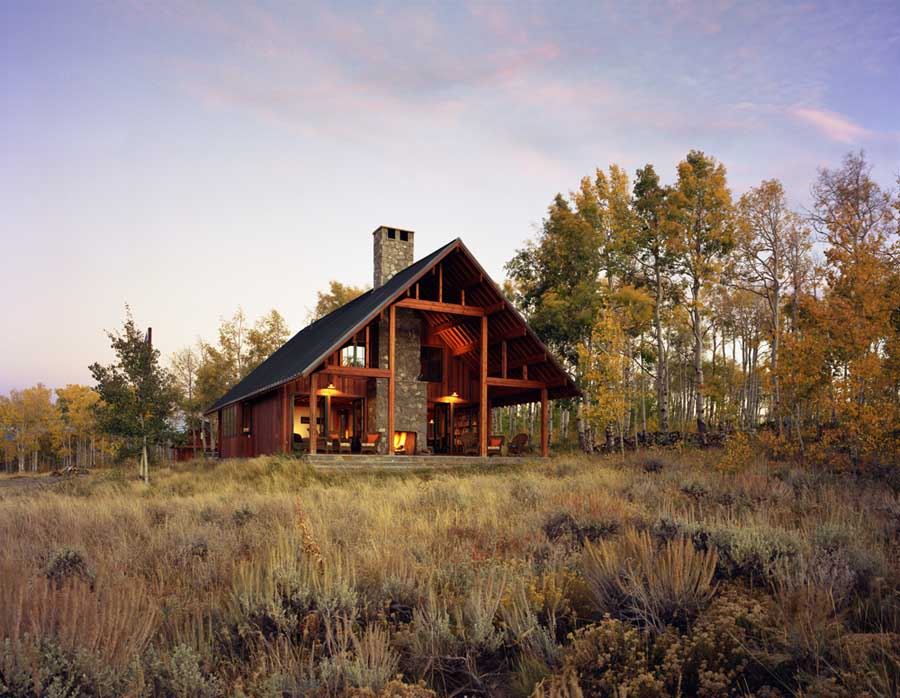 Colorado house jackson county house home e architect for Building a home in colorado