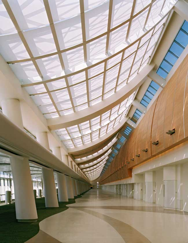 Mineta san jose airport terminal california e architect Airport planning and design course