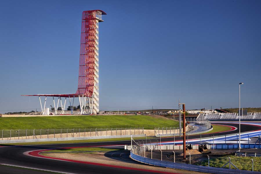 Observation Tower Austin Circuit Of The Americas Building