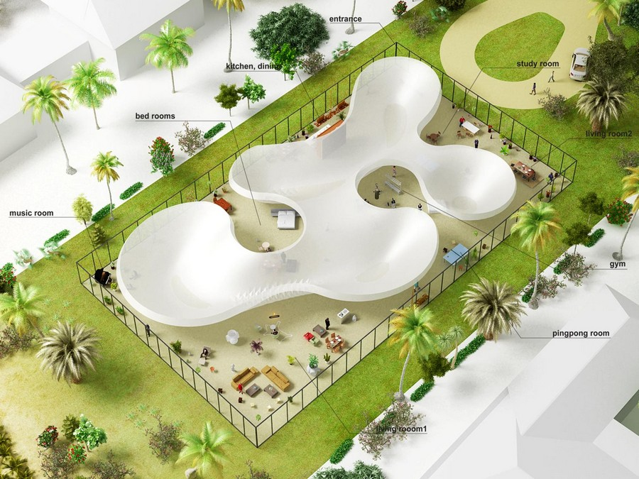 Aquatecture buildings on water e architect for Pool design concepts