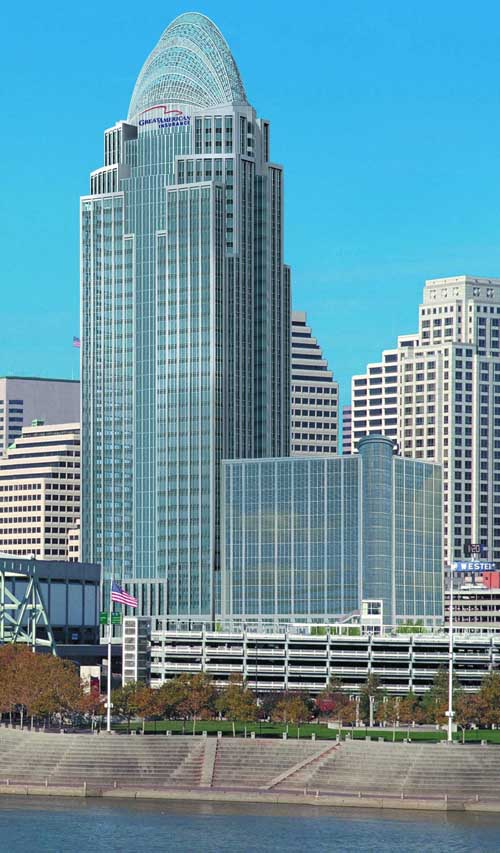 Queen city square great american building cincinnati for American house construction