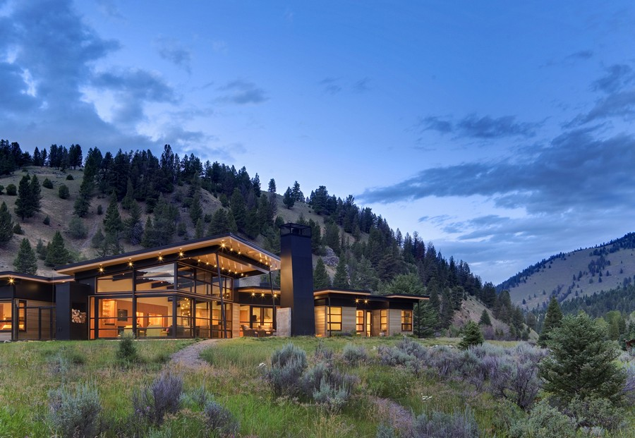 River bank house montana residence e architect for Montana style house plans