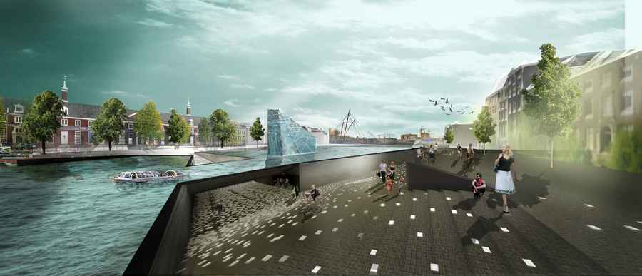 Amsterdam iconic pedestrian bridge competition e architect for Design bridge amsterdam