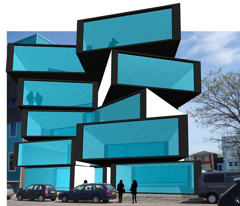 cool architecture buildings. Delighful Cool Matchbox Building Amsterdam MatchboMatchbox  Image From Architects With Cool Architecture Buildings