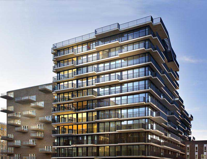 Westerdok apartment building amsterdam apartments e for Product design jobs amsterdam