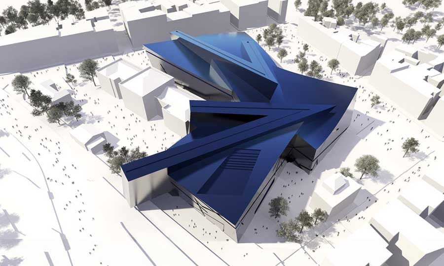 New acropolis museum athens architects design e for Daniel libeskind architectural style