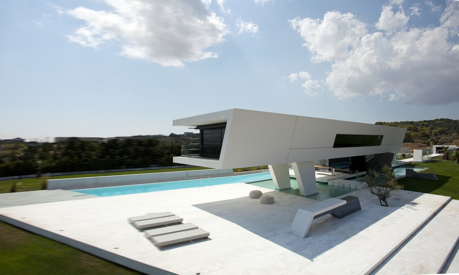 Modern Greek style homes are exotic