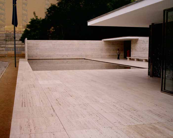 barcelona pavilion mies van der rohe building e architect. Black Bedroom Furniture Sets. Home Design Ideas