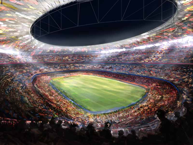 Camp Nou Stadium Barcelona E Architect
