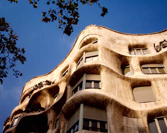 Spanish Architecture Casa Mila Building