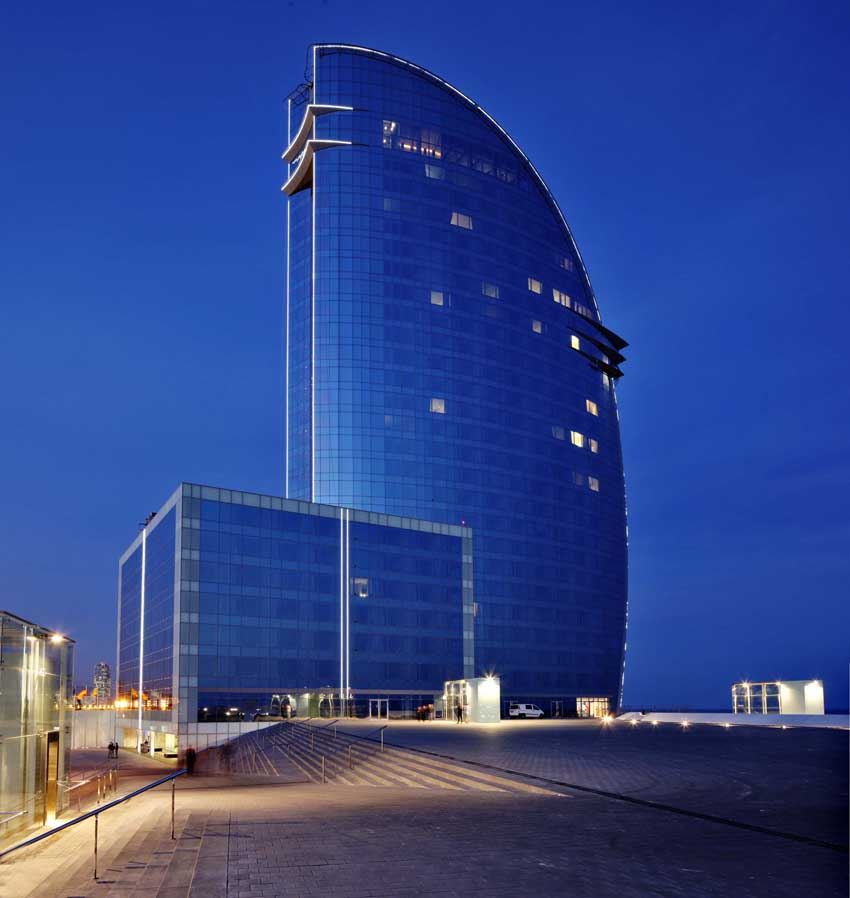 W barcelona hotel spain e architect for Design hotel w barcelona