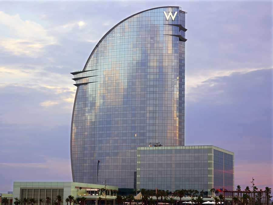 W barcelona hotel spain e architect for Hotels a bcn