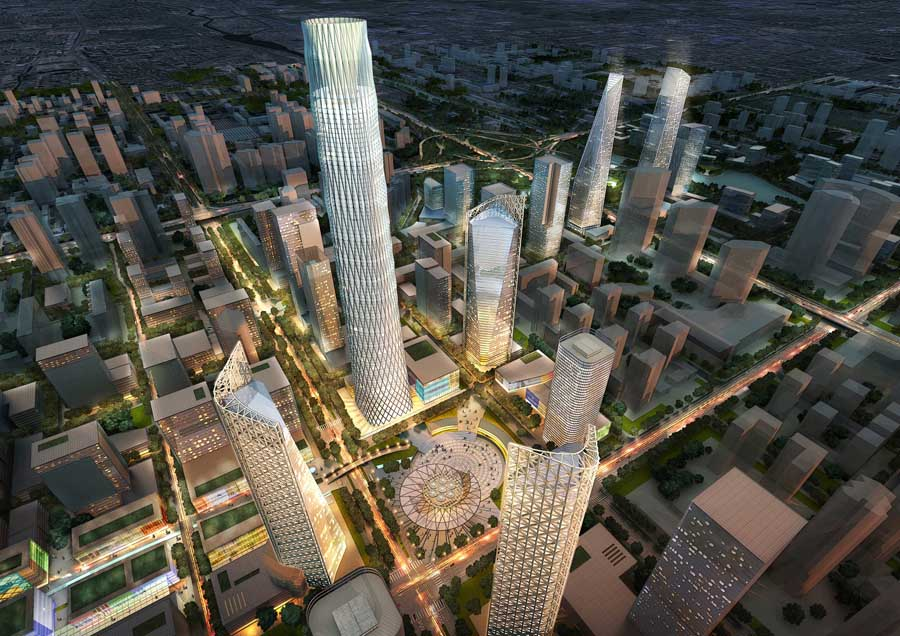 Beijing cbd buildings eastern expansion e architect Urban planning and design for the american city