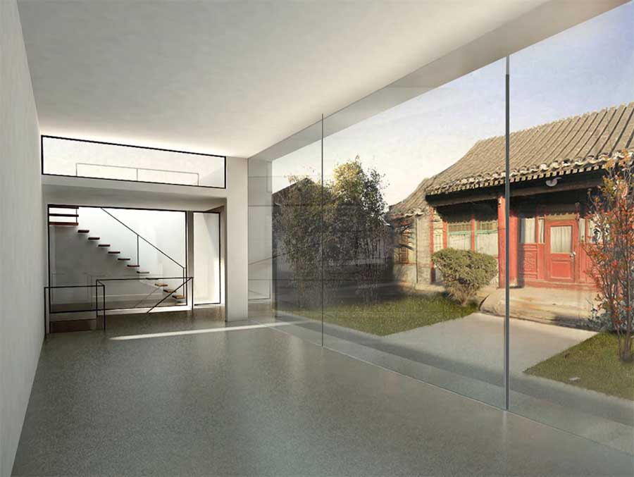 Beijing caiguo qiang courtyard house china e architect for Chinese architecture house design