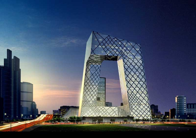 central china tv beijing building oma headquarters e