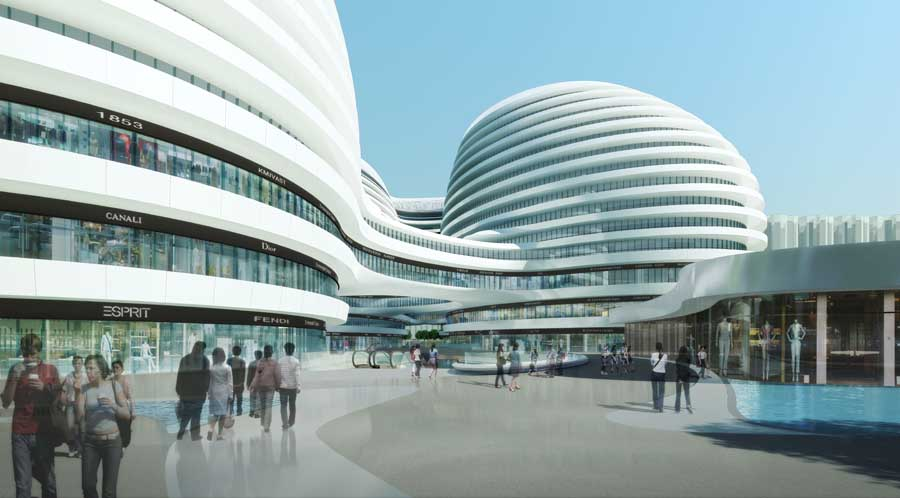 Galaxy Soho Zaha Hadid Beijing China E Architect