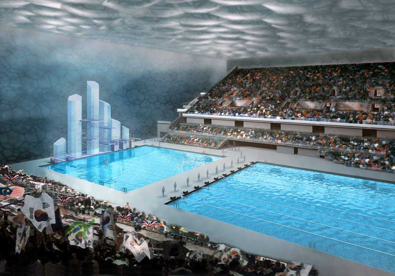 Watercube beijing national swimming centre china e for Piscine olympique
