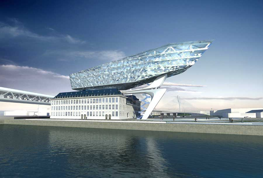 Port house antwerp by zaha hadid architects e architect for Architektur antwerpen