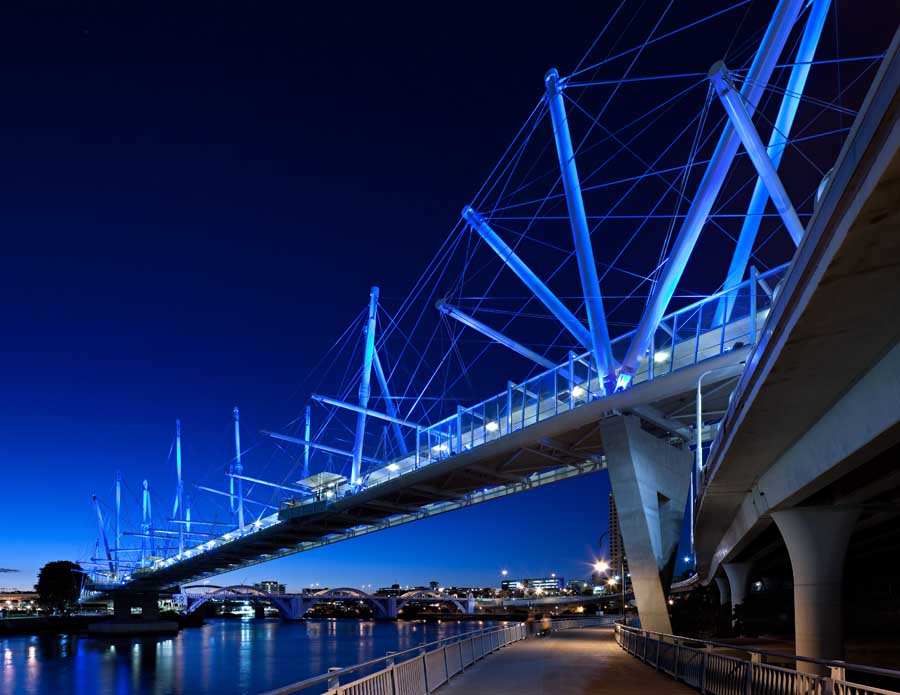 Kurilpa bridge brisbane australia e architect for Design et architecture