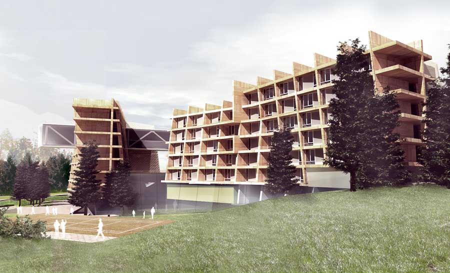Resort buildings hotel resorts architecture e architect for Design hotel ski