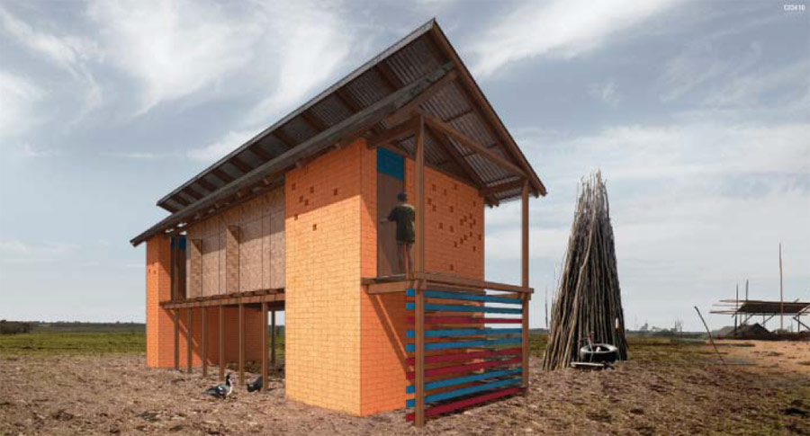 Sustainable home habitat for humanity student design competition