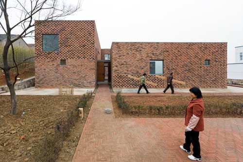Chinese brick house gaochun building by azl e architect for Brick home construction