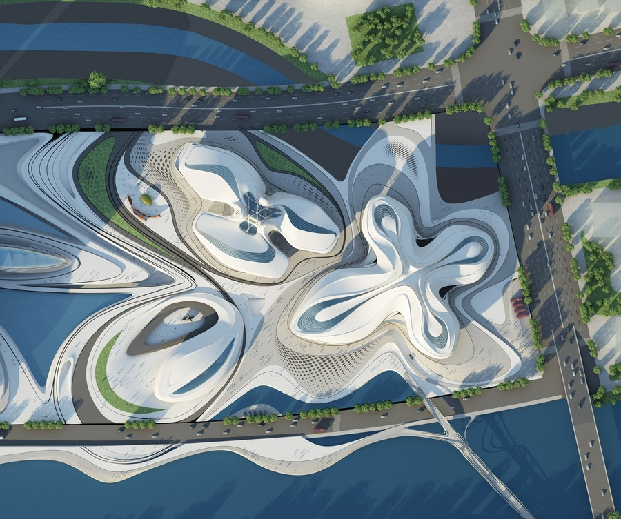 Changsha meixihu international culture art centre china for International architecture and design