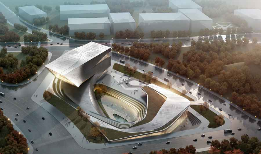 Bayuquan Library China Yingkou Plaza E architect