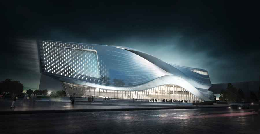 International hi tech innovation park in zhuhai e architect for Architecture high tech