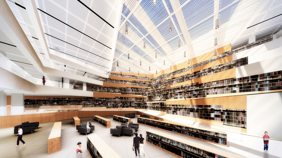 Datong City Library Building China E architect