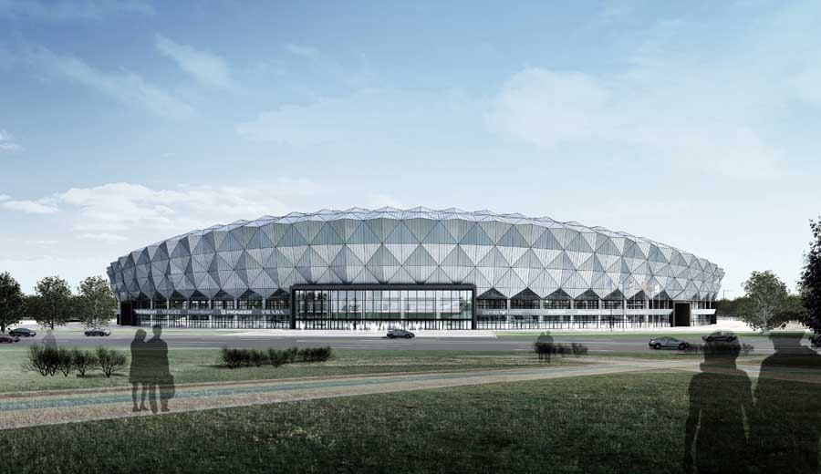 Jining Stadium Building China Chinese Sports Arena E