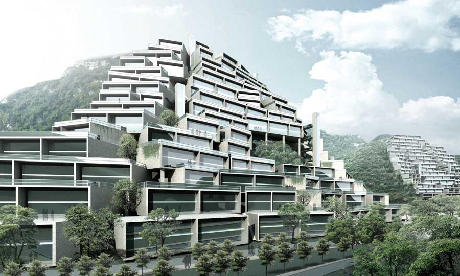 Liuzhou building longtan park chinese housing by mvrdv for Houses projects