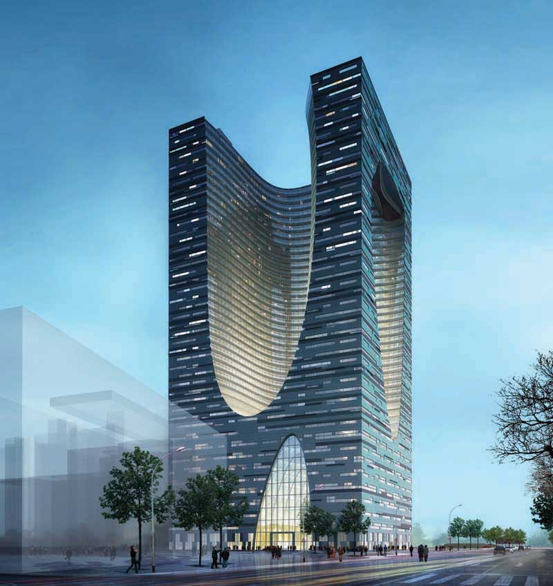 Shidai tower harbin china building competition e architect for Architects building designers