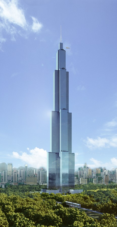 sky city tower china tallest building in the world e