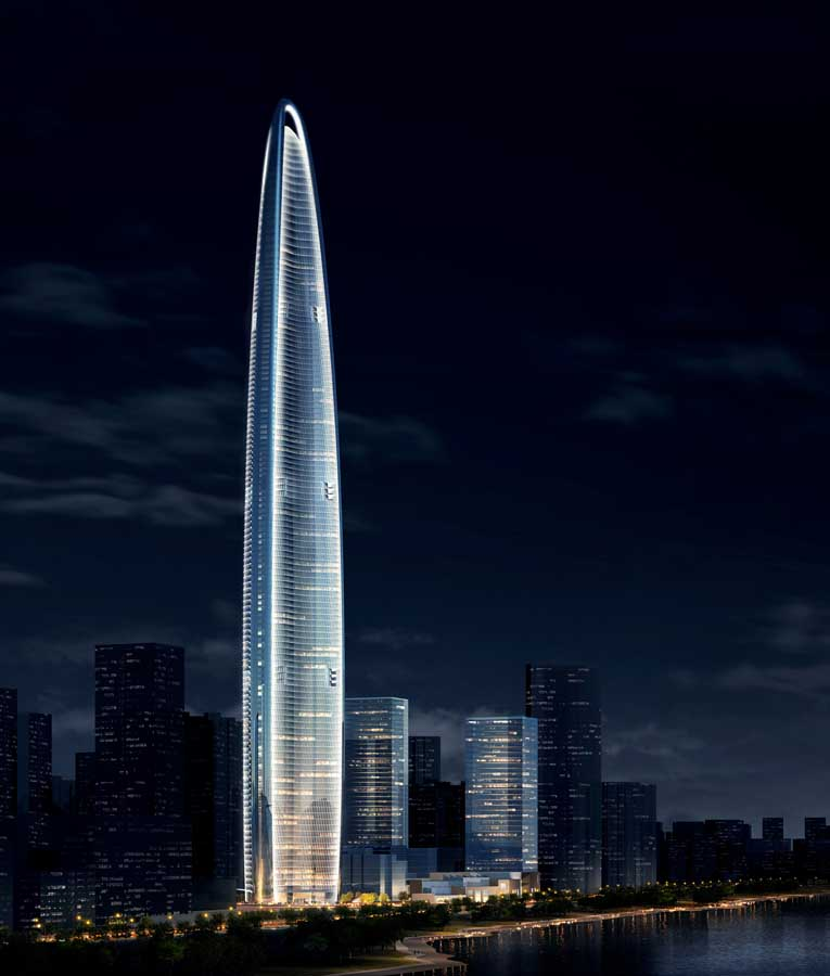 Wuhan Greenland Center Development – design by Adrian Smith + Gordon Gill Architecture