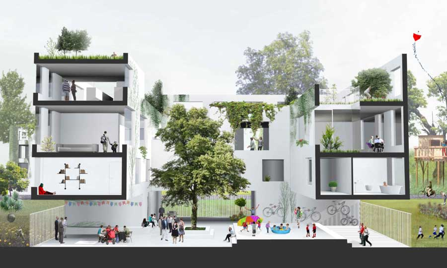 Private rental housing design competition e architect for Architecture house design competitions