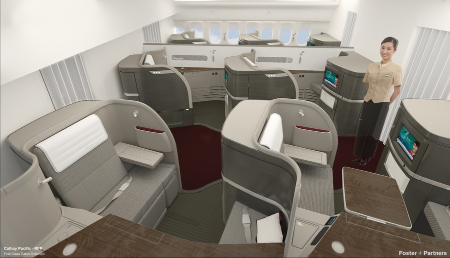 Cathay Pacific First Class Cabin - e-architect