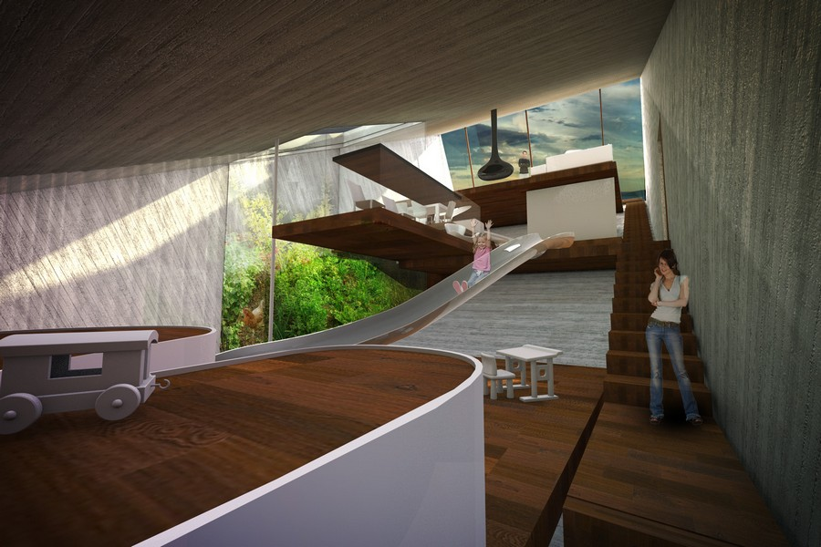 Hidden House Ecological Concept E Architect