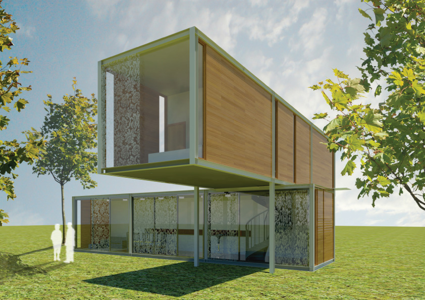 Ihabit modular system housing concept e architect for Architecture design modular home