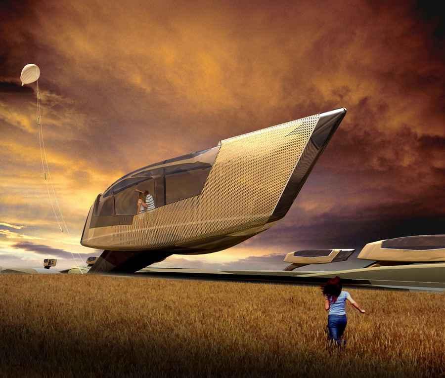 Tornado house 1o design tornado proof house e architect for Home concept design