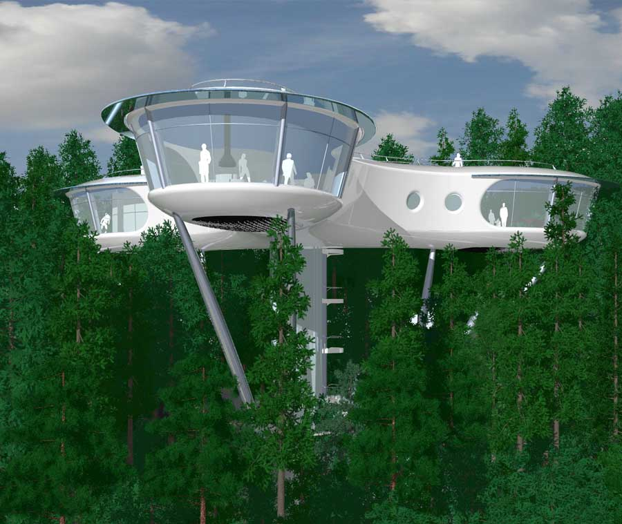Treehouse Architecture Competition Tropical Island Resort