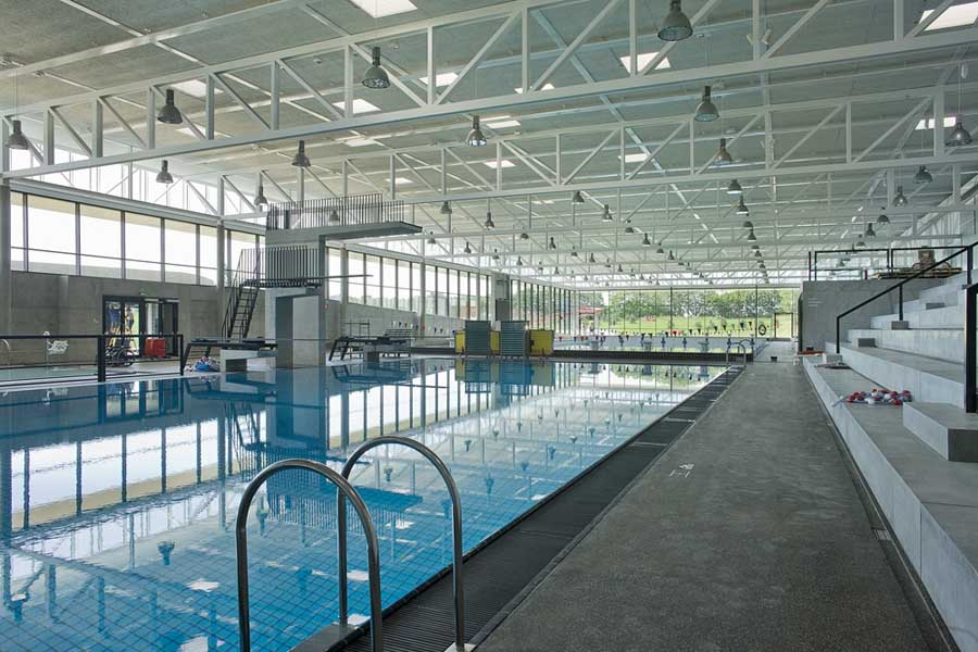Swim stadium bellahoj copenhagen building denmark e for Building a swimming pool