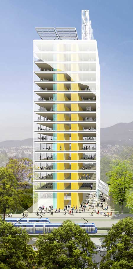 Zagreb office tower croatian office building e architect for Design office zagreb