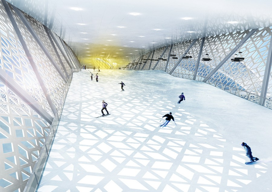 Skidome denmark randers building world s biggest ski
