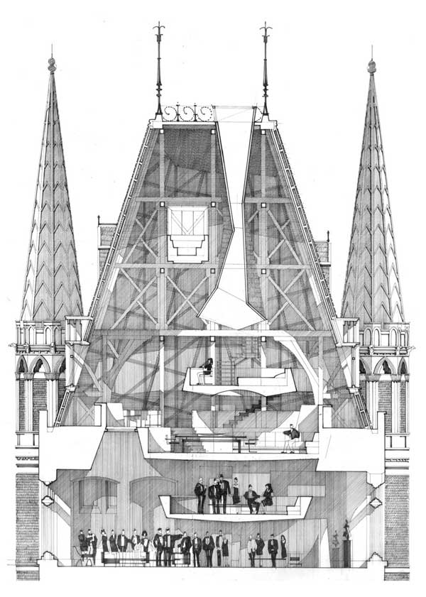 Working drawings by alan dunlop architect e architect for How to make architectural drawings
