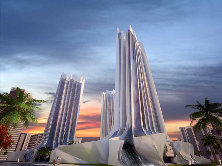 Wave Tower Dubai Skyscaper Building Uae E Architect