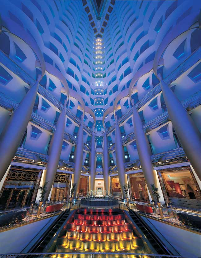Burj al arab luxury hotel in dubai uae e architect for Burj al arab interior